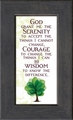 Serenity Prayer Framed Encouragement Gift - 4 Frames Available