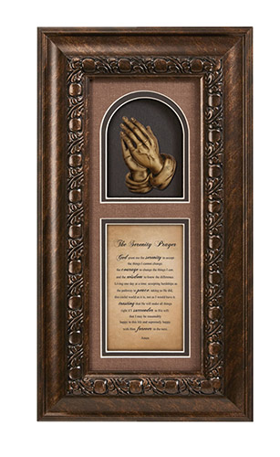 Serenity Prayer Framed Wall Decor