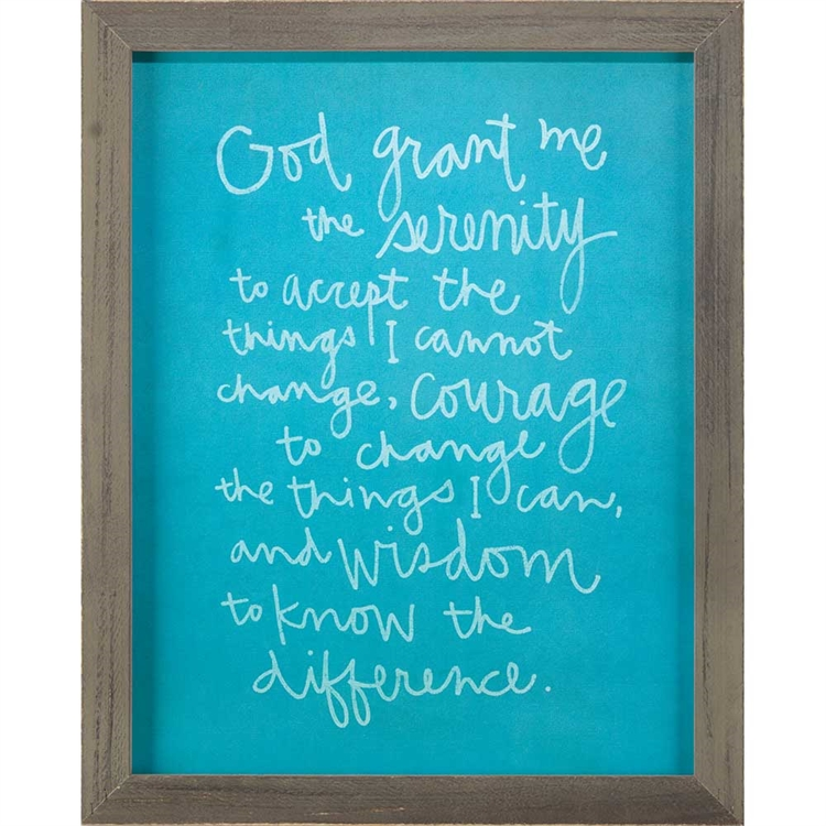 Serenity Prayer Home Decor Wall