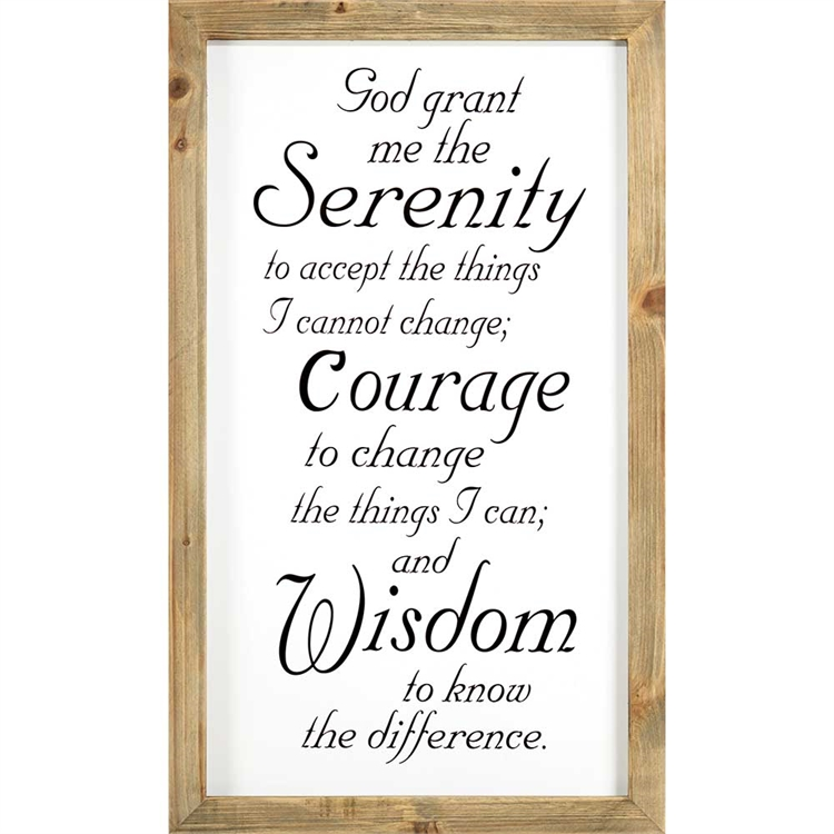 Serenity Prayer Wall Decor Home