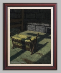 Shadow of the Cross Over Manger by Bjorn Thorkelson - 6 Framed & Unframed Options
