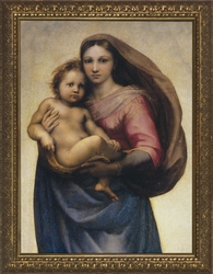 Sistine Madonna (Detail) by Raphael - 4 Framed Options