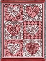 Six Hearts Tapestry Throw