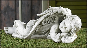 Sleeping Angel Garden Figurine