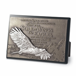 Soaring Eagle Sculpture Plaque - Christian Home Decor