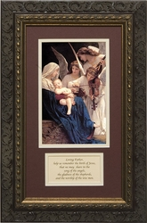 Song of the Angels with Prayer - Framed Christian Art