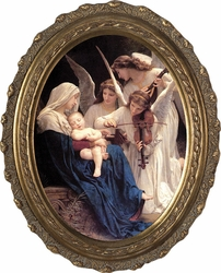 Song of Angels Canvas - Oval Framed Art