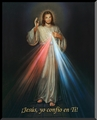 Spanish Divine Mercy Wall Plaque Christian Wall Decor