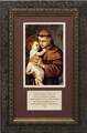 St. Anthony with Prayer Framed