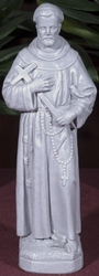St. Francis with Cross Outdoor Statue