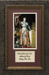 St. Joan of Arc with Prayer Framed
