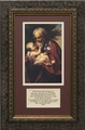 St. Joseph (Older) with Prayer Framed