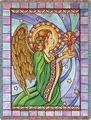 Stain Glass Angel Throw