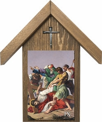 Stations of the Cross Handcrafted Simple Outdoor Shrine (Set of 14)
