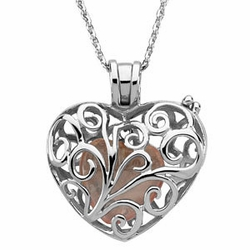 Sterling Silver Always in my Heart Locket & Chain