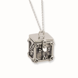Sterling Silver Antiqued Blessing Box 18in Necklace