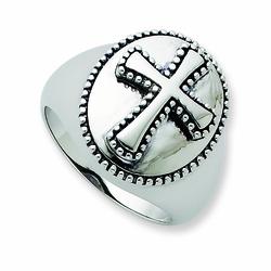 Sterling Silver Antiqued Men's Boldness Ring