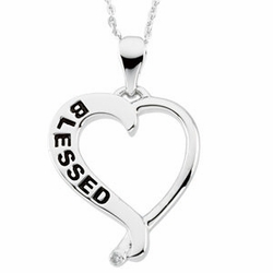 Sterling Silver Blessed Pendant & Chain (Reversible)