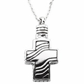 Sterling Silver Cross Ash Holder Pendant & Chain