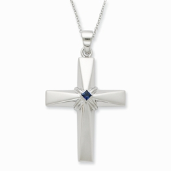 Sterling Silver CZ The Great Designer 18in Necklace