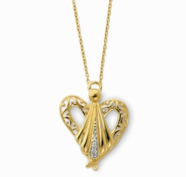 Sterling Silver & Gold-plated Angel of Friendship 18in Necklace