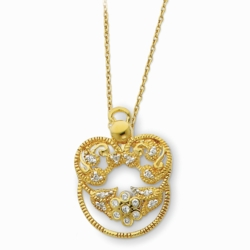 Sterling Silver & Gold-plated Angel of Grace 18in Necklace