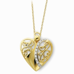 Sterling Silver & Gold-plated Angel of Love 18in Necklace