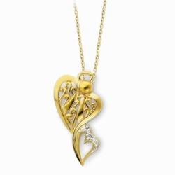 Sterling Silver & Gold-plated Angel of Protection 18in Necklace