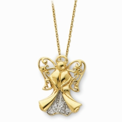 Sterling Silver & Gold-plated Angel of Strength 18in Necklace