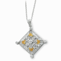 Sterling Silver & Gold-plated Harvest 18in Necklace