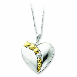 Sterling Silver & Gold-plated I Love You More Each Day 18in Necklace