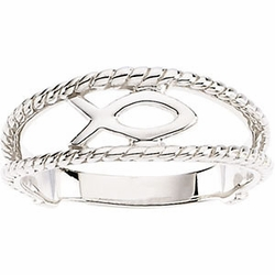 Sterling Silver Ichthus (Fish) Chastity Ring