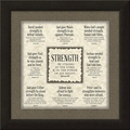 Strength Framed Christian Home Decor
