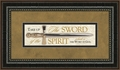 Take Up The Sword Of The Spirit Framed Home Decor