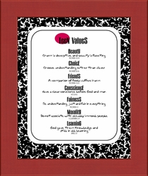 Teen Values Christian Wall Decor for Teenagers - 4 Frames Available