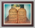 Ten Commandments by Jeff Preston - 6 Framed & Unframed Options
