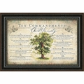 Ten Commandments For Our Family - Christian Wall Decor