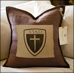 Tetelesti 33 AD Cross with Shield Pillow - 2 Per Package