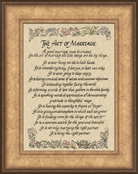 The Art of Marriage Framed Gift on Parchment - 4 Frames Available
