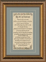 The Art Of Marriage Framed Wedding Gift - 4 Frames Available
