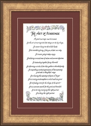 The Art of Marriage Poem Christian Wall Decor - 2 Frames Available