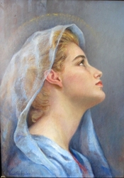The Blue Madonna by Venetia Epler - 2 Unframed Options