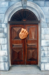 The Door by Kate Austin Christian Abstract Art