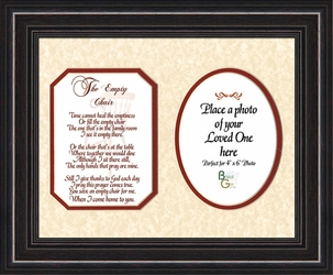 The Empty Chair Personalized Memorial Gift - 4 Frames Available