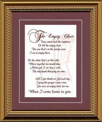 The Empty Chair Sympathy Framed Gift