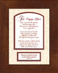 The Empty Chair Sympathy Memorial Gift