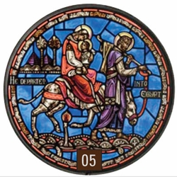 The Flight Into Egypt Stained Glass Artwork
