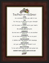 The Fruit of the Spirit Framed Christian Wall Decor