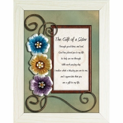 The Gift of a Sister - Framed Christian Tabletop Home Decor