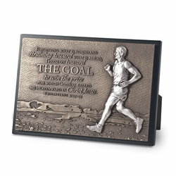 The Goal - Runner Sculpture Plaque - Christian Home Decor